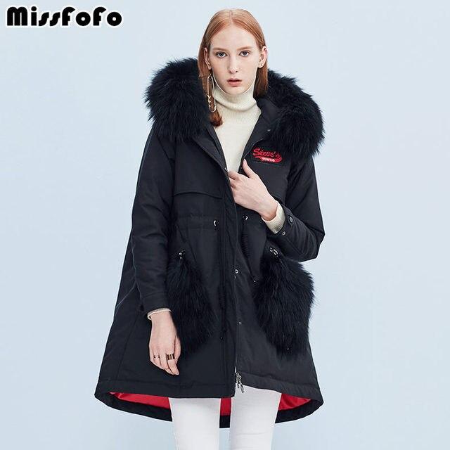 MissFoFo 2018 Новая мода тонкий пояс регулируемый пояс Офисная Леди однотонный большой мех Повседневная Длинная женская куртка размер s-xl