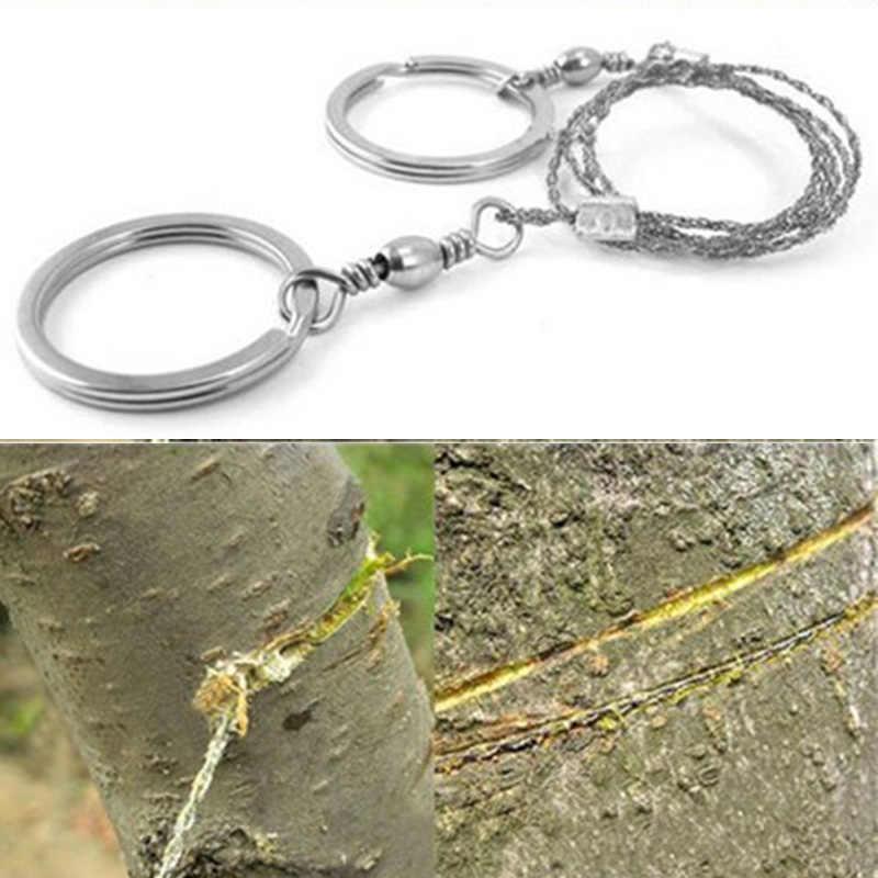 55 cm Stainless Steel Wire Saw Emergência Kit de Viagem Acampamento Caminhada Ao Ar Livre de Rolagem Sobreviver Ferramenta Caça Equipamentos de Corte De Pedra