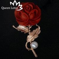 Queen лотоса женская одежда Брошь Pin набор значки pin жемчугом красные розы Брошь Цветок Ювелирные Броши для женщин BTS значки