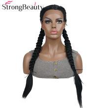 Strongbeauty две косы прически кружевные передние парики для