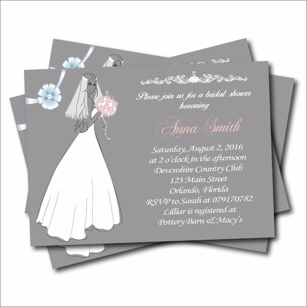 20pcs custom wedding invitation card vintage bridal shower for Classic bridal shower invitations