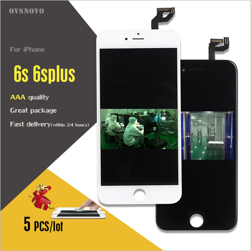 Ovsnovo 5PCS 100 Check Test Work Perfect LCD Ecran For IPhone6 6 Plus LCD Display Touch