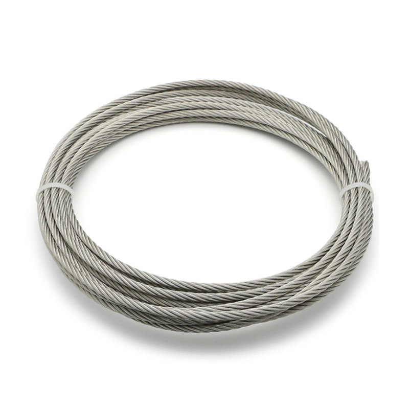 50 Meter 304 Stainless Steel 1mm 1.2mm 1.5mm 2mm Mm 2.5Diameter Steel Wire Bare Rope Lifting Cable Line Clothesline Rustproof 7*