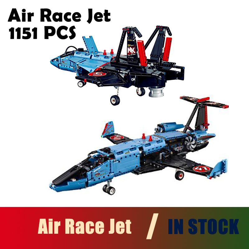 Models building toy 20031 1151pcs Air Race Jet racing aircraft Building Blocks Compatible with lego Technic 42066 toys & hobbies lepin 20031 technic the jet racing aircraft 42066 building blocks model toys for children compatible with lego gift set kids