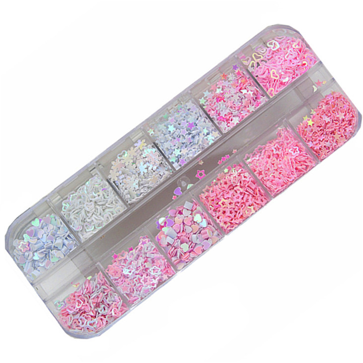Sequins Holographic Holo Love Star Pink White Nail Body Art Glitter Box Sequin Nails Paillette Flakes Decoration Manicure Tools