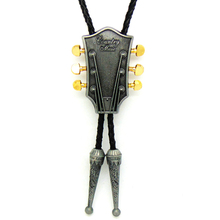 Guitar Metal Buckle Cowboy Bolo Tie