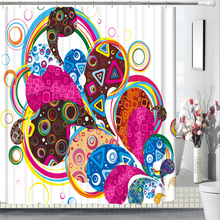 3D Colorful Lines New Fashion Shower Curtains Bathroom Curtain Waterproof Thickened Bath Customizable