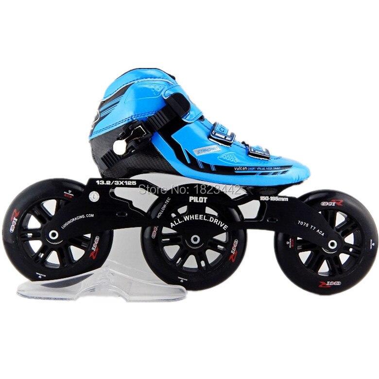 Marcus patinage de vitesse trois roues patin à roulettes chaussures de patinage professionnel 3*120mm roues de patinage