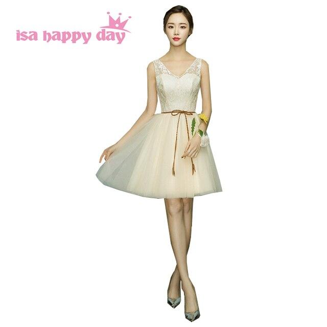 girls formal lace tulle vintage v neck brides maid teenage dress ...