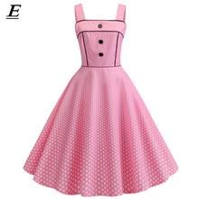 35711a6b5999 Sexy Retro Spille k Polka Dot Dress 2019 Audrey Hepburn Vintage Partito del  Vestito 50 s 60 s Gotico Spille Up rockabilly Vestit.