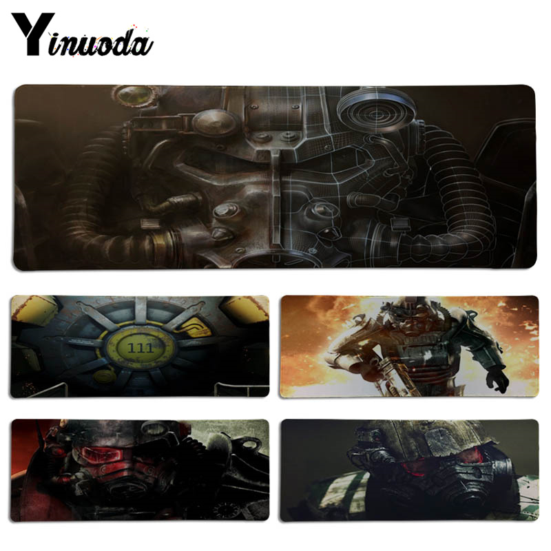 Yinuoda Simple Design Fallout Unique Desktop Pad Game Lockedge Mousepad Size for 300*700*2mm and 300*900*2mm Game Mousepad