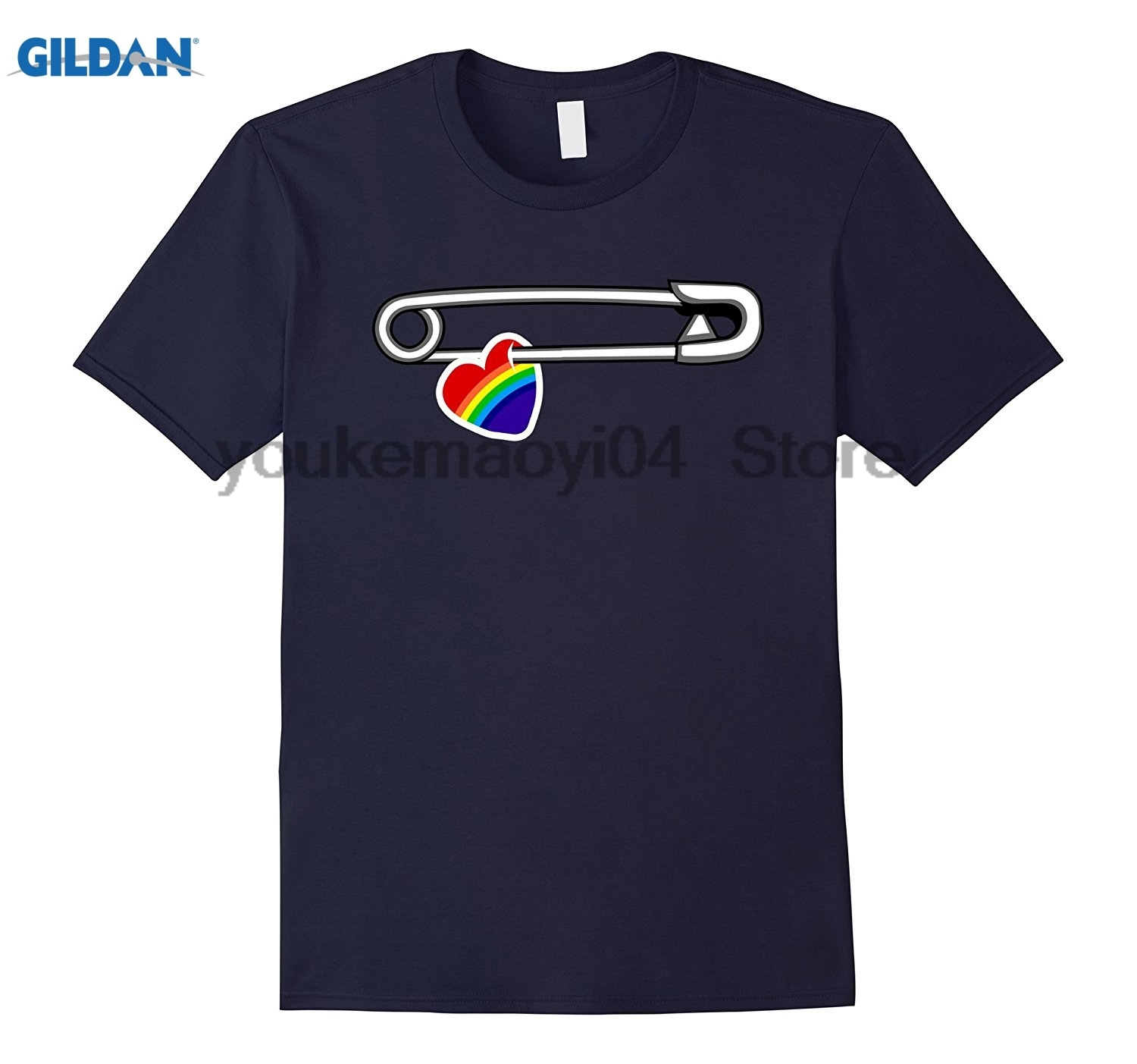 GILDAN Love Trumps Hate Safety Pin For Peace And Solidarity T-Shirt Personalized shirts are simple
