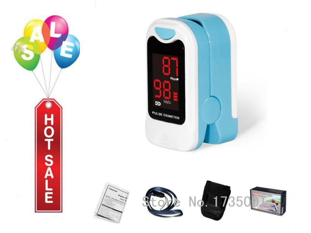CONTEC CMS50M LED della Punta Delle Dita Pulsossimetro, Ossigeno Nel Sangue Monitor, cura La Salute, Pouch