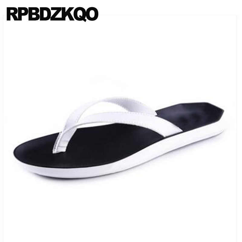 ba54c4eeff87 Waterproof Flip Flop Flat Water Outdoor White Fashion Slip On Soft Slippers  Slides 2018 Beach Men