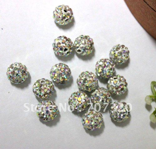 90f9a758f Hot selling 50pcs Colour shamballa beads ball for bracelet,disco balls Free  Shipping MIX COLOURS