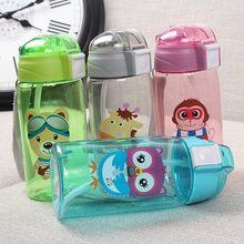 Garrafa de água para crianças, garrafa de água esportiva criativa, garrafa de água, adorável, ecológica, passeio à prova de vazamento, portátil, garrafa de bebida, livre de bpa