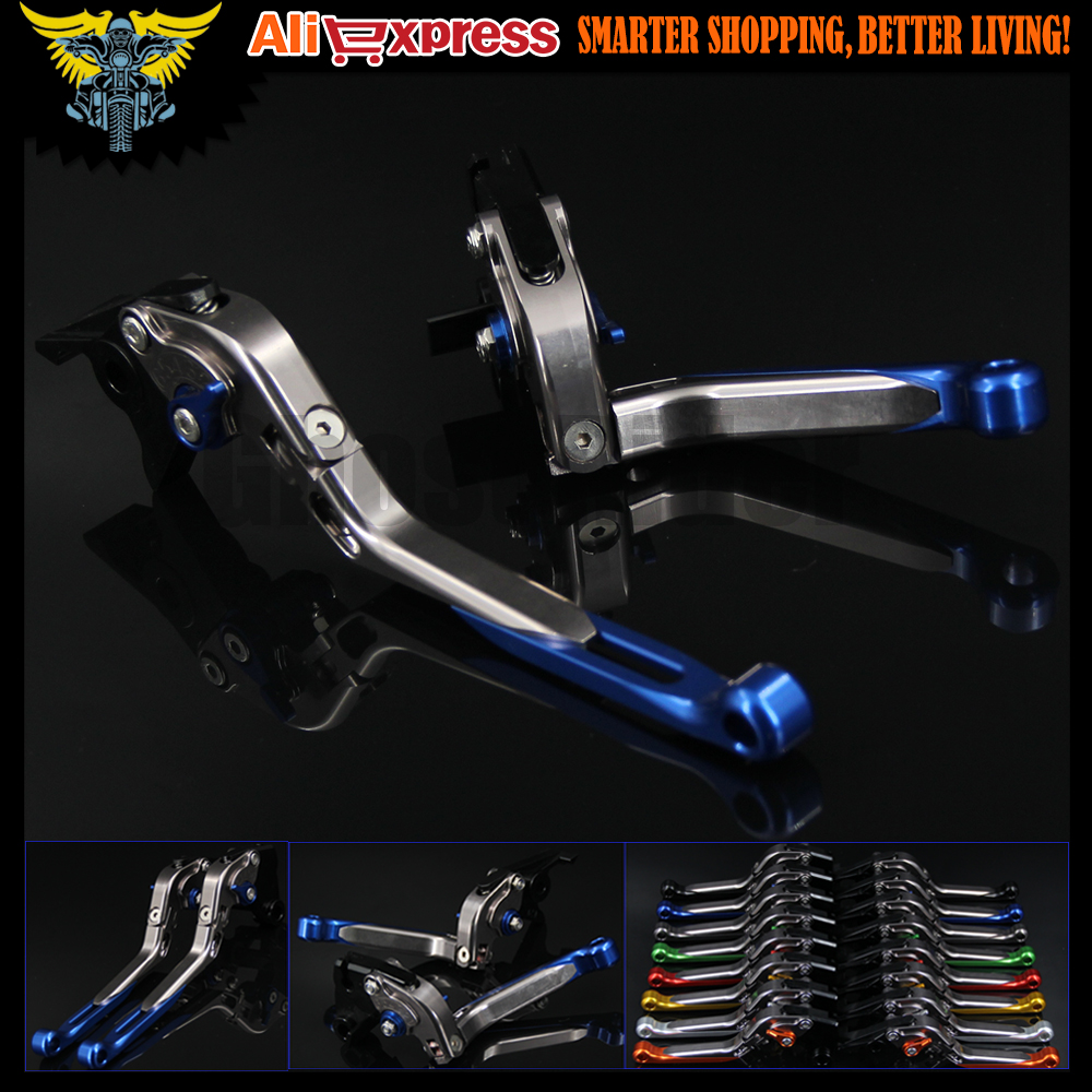 Blue+titaniumCNC Adjustable Folding Motorcycle Brake Clutch Levers For BMW R1200GS 2004 2005 2006 2007 2008 2009 2010 2011 2012 motorcycle adjustable billet short folding brake clutch levers for buell ulysses xb12x xb12xt 1200 05 06 07 08 09 xb12 2004 08