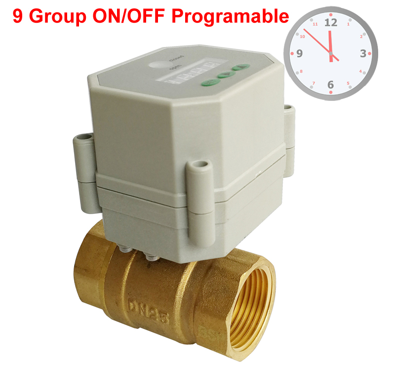 1 Clock Timing control brass valve AC DC9 24V or AC110v 230V Timer Controlled Valve with