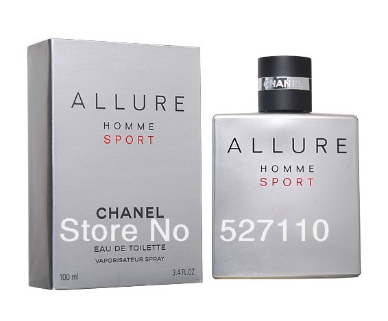 ALLURE Men's sport perfume original smell and package good quality fragrance free shipping