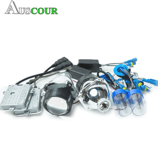 Best Offers 2.5 inch mini HID bixenon Projector Lens 55W H1 Bulb ballast xenon kit for H1 H4 H7 car motorcycle headlight Headlamp assembly