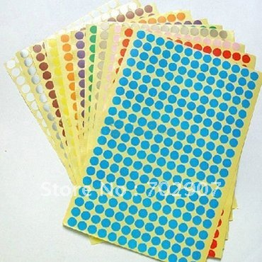 Wholesale&Free shipping: 14000 pcslot Pink Sticker Circle Labels Round 6mm