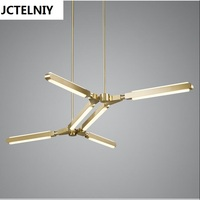 New Nordic PRIS Baton Aluminum LED Chandelier Fashion Creative Contracted Sitting Room Dining Room Bedroom Chandeliers