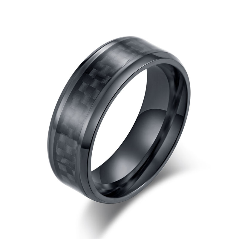 2019 New Electrocardiogram Ring Lovers Carbon Fiber Ring Luminous Ring Accessories Valentines Day Gifts for Girlfriend Boyfriend