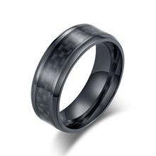 Moda ze stali nierdzewnej węgla pierścień z włókna dla mężczyzn kobiety para pierścień czarny srebrny kolor biżuteria męska akcesoria tanie tanio Pierścionki Mężczyźni Xtr06851 Zespoły weselne Biuro kariera Rocznica Brak Romad Wszystko kompatybilny Okrągły Włókno węglowe