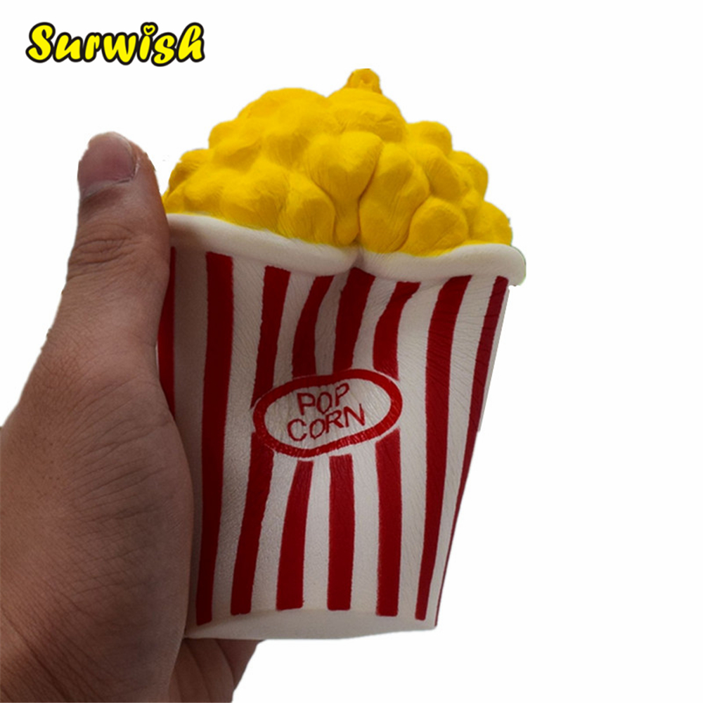 Simulation Popcorn Slow Rebound PU Decompression Toy Squishy Slow Rising Stress Reliever 10pcs slow rising soft squeezing charms stress release toy