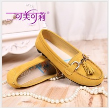 Free shipping Women Genuine Leather Mother Shoes Moccasins Women s Soft Leisure Flats Female Driving Shoes