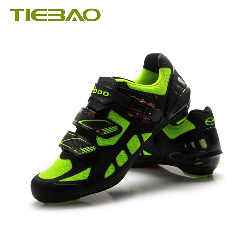Купить с кэшбэком Tiebao road bike shoes sapatilha ciclismo 2019 women men bicycle riding shoes road superstar self-locking breathable bike shoes