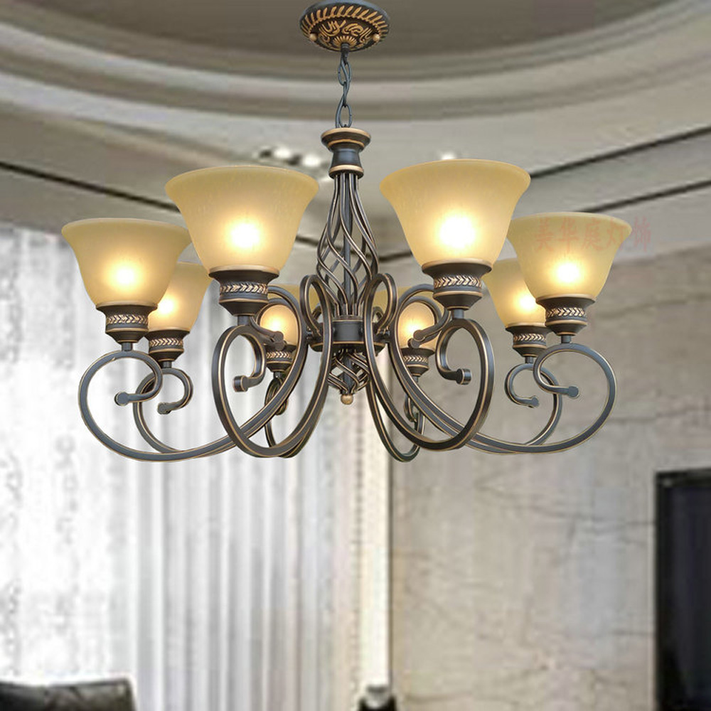 High Quality Suspension Retro LED Chandelier 110V/220v E27 Led Loft Style American Retro Iron 3 Head Kitchen Black Chandelier high quality princess room farmhouse resin living room chandelier led e27 lamp 110v 220v 3 head suspension chandelier lighting