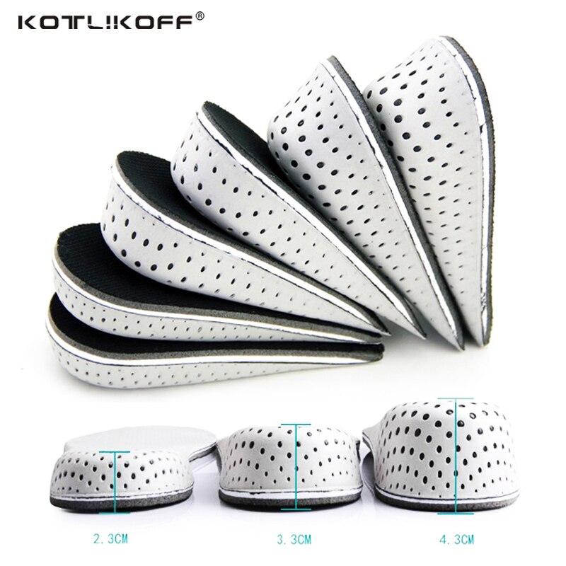 KOTLIKOFF Height Increasing Insoles Men Women EVA Breathable Comfortable Insoles Shoe Accessories Black Color half Insoles стоимость
