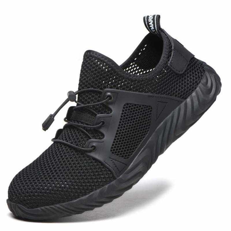36 ~ 48 ทำลาย Ryder รองเท้าผู้หญิง Toe Air ความปลอดภัยรองเท้าเจาะหลักฐานทำงานรองเท้าผ้าใบ Breathable ความปลอดภัยรองเท้า