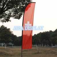 free shipping for 4.5m beach flagpole fabric national flying banner country flag pole and custom flag and base