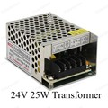 1 Unids Real Potencia AC 110 V 220 V A CC 24 V 25 W Led fuente de Alimentación de tira DC controlador led con carcasa de aluminio de Alta Potencia de Iluminación transformadores