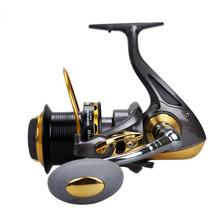 9000 Series 12+1BB 4.6:1 Fishing Reel Trolling Long Shot Casting Spinning Wheel Max Drag 20KG / 44LB with Metal CNC Rocker Arm