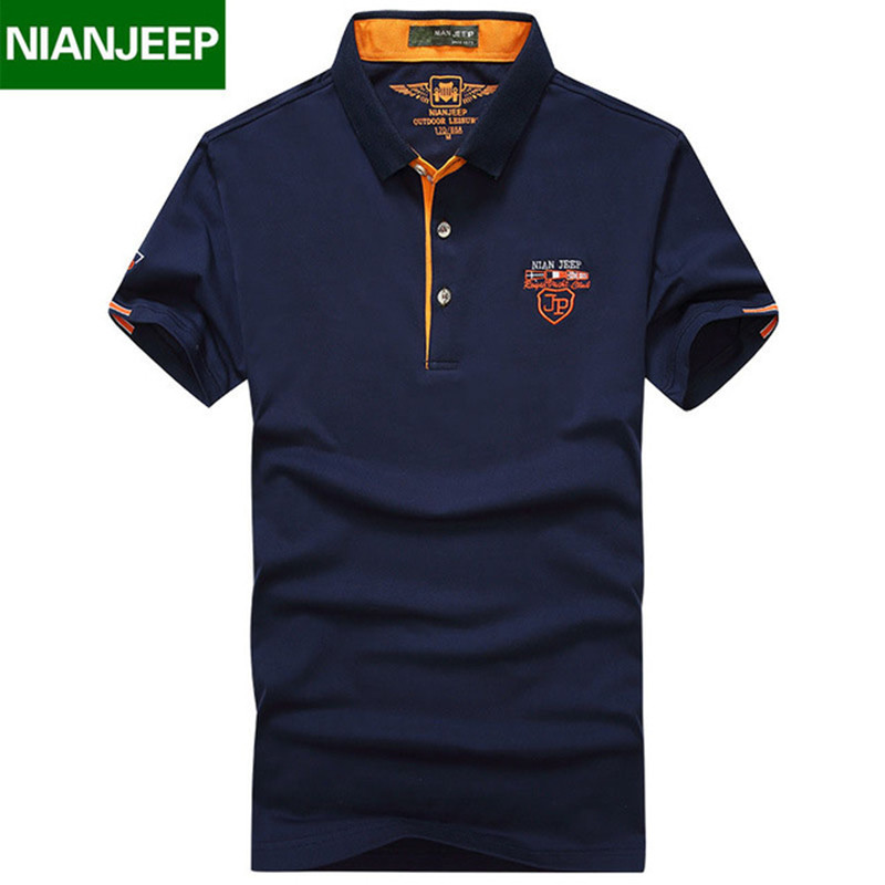 NIANJEEP brand Summer Mens Solid   POLO   Shirts Quality Male Cotton Casual Short Sleeve   Polos   Shirt Homme Camisa Large size M-4XL
