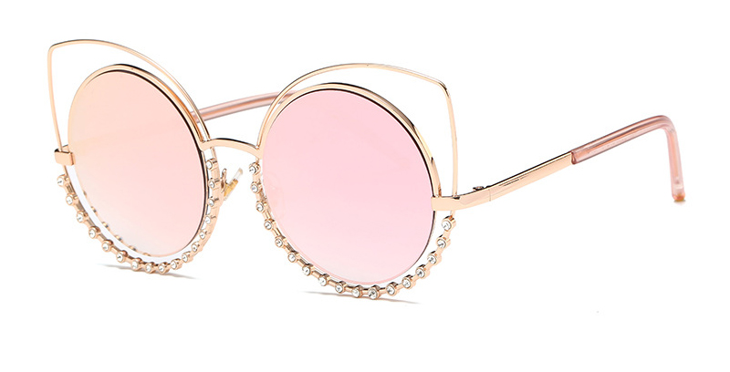Hot 2018 Fashion Sunglasses Women Luxury Brand Designer Vintage Sun glasses Female Rivet Shades Big Frame Style Eyewear 364M 3