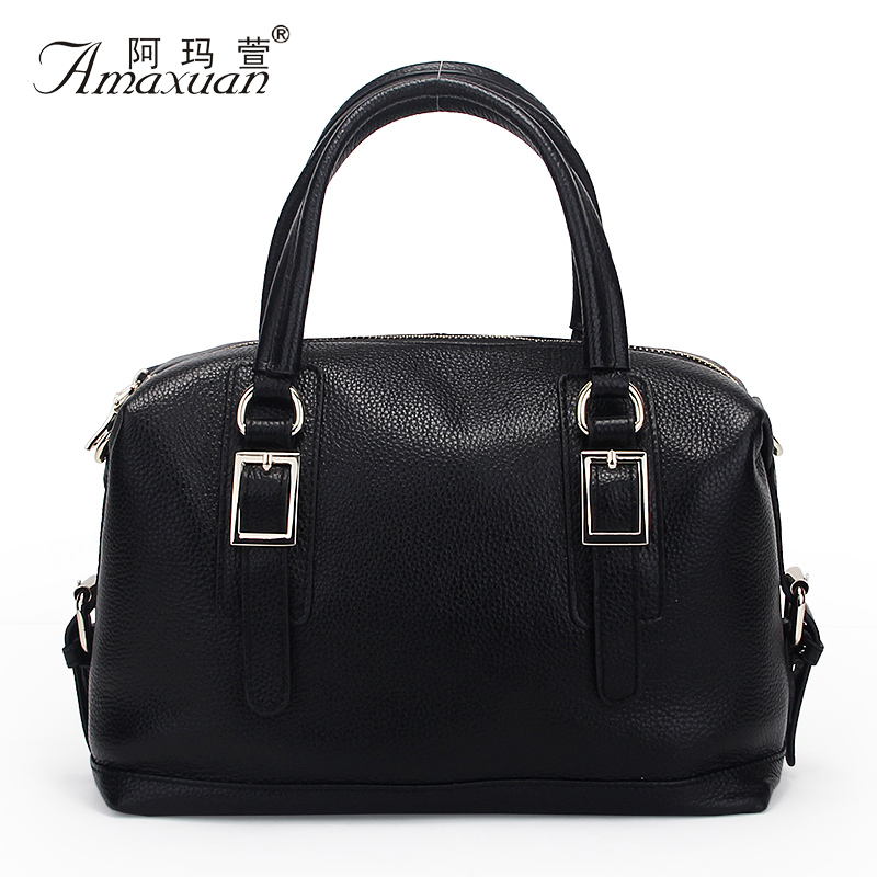 ФОТО Hot Sale 2015 Women Shoulder Bags Genuine Leather Vintage Messenger Bags Motorcycle Shoulder Bags Fashion Women Bag Bolsa BH1169