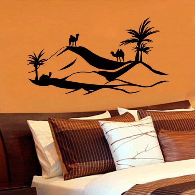 Scenry Zooyoo Adesivo De Parede Tamanho Grande Camelo Deserto Decalque Da  Parede Removível Home Decor Sala