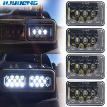 HJYUENG led çalışma ışığı 4X6 inç dikdörtgen için 60W LED far Peterbilt Kenworth FREIGHTLINER 12V 24V 5 inç H4