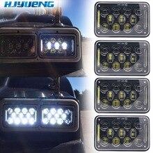 Hjyueng ledワークライト 4 × 6 インチの長方形の 60 ワットledヘッドライトためピーターケンワースfreightliner 12v 24 12v 5 インチH4