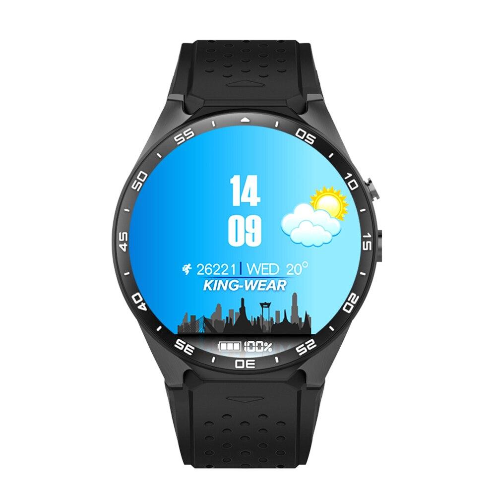 KW88 Montre Smart Watch Android Montre 1.39 pouce OLED Écran 512 mb + 4 gb Smartwatch Soutien 3g SIM Carte GPS WiFi Bluetooth Montre Téléphone