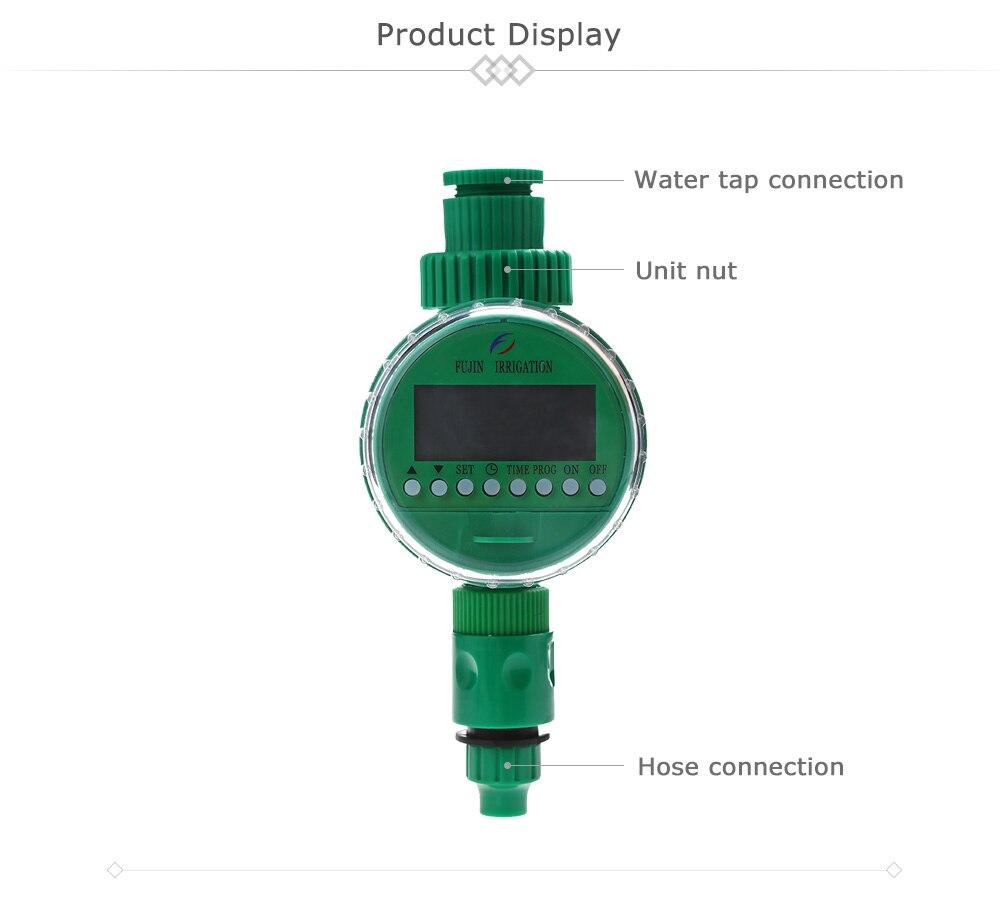 Автоматический таймер полива таймер для полива таймер полива Электронный Таймер подачи воды орошения сада контроллер шаровой клапан сад воды, таймер ЖК-дисплей Дисплей полива Системы таймер для полива автополив