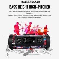 Hifi Portable Bluetooth Speaker FM Radio Move KTV 3D Sound system Sound bar subwoofer portable column bluetooth speaker FM radio