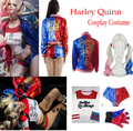 2016 Batman Cosplay Costume Suicide Squad Harley Quinn Uniform Halloween Suit Full Set With Wig