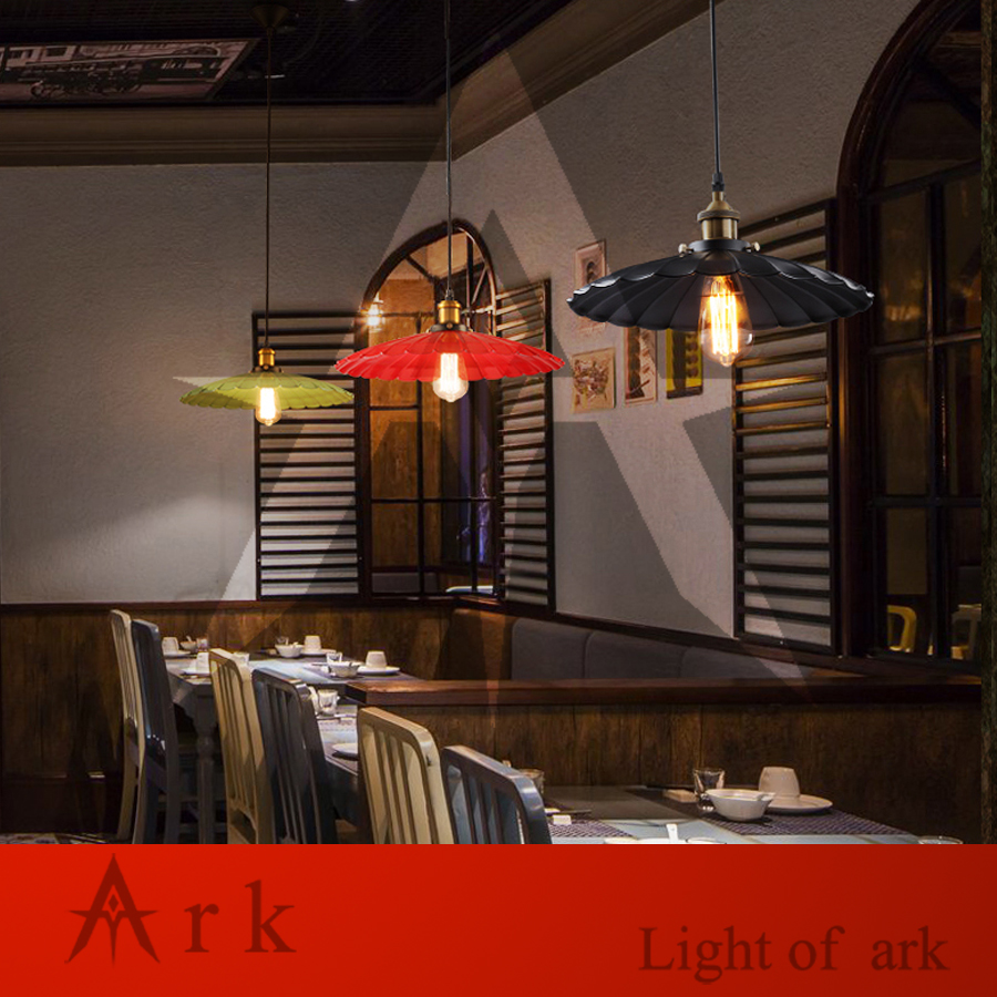 ARK LIGHT IRON DIA 36CM Pendant light american old furniture nostalgic vintage  for Balcony aisle hallway DINING ROOM