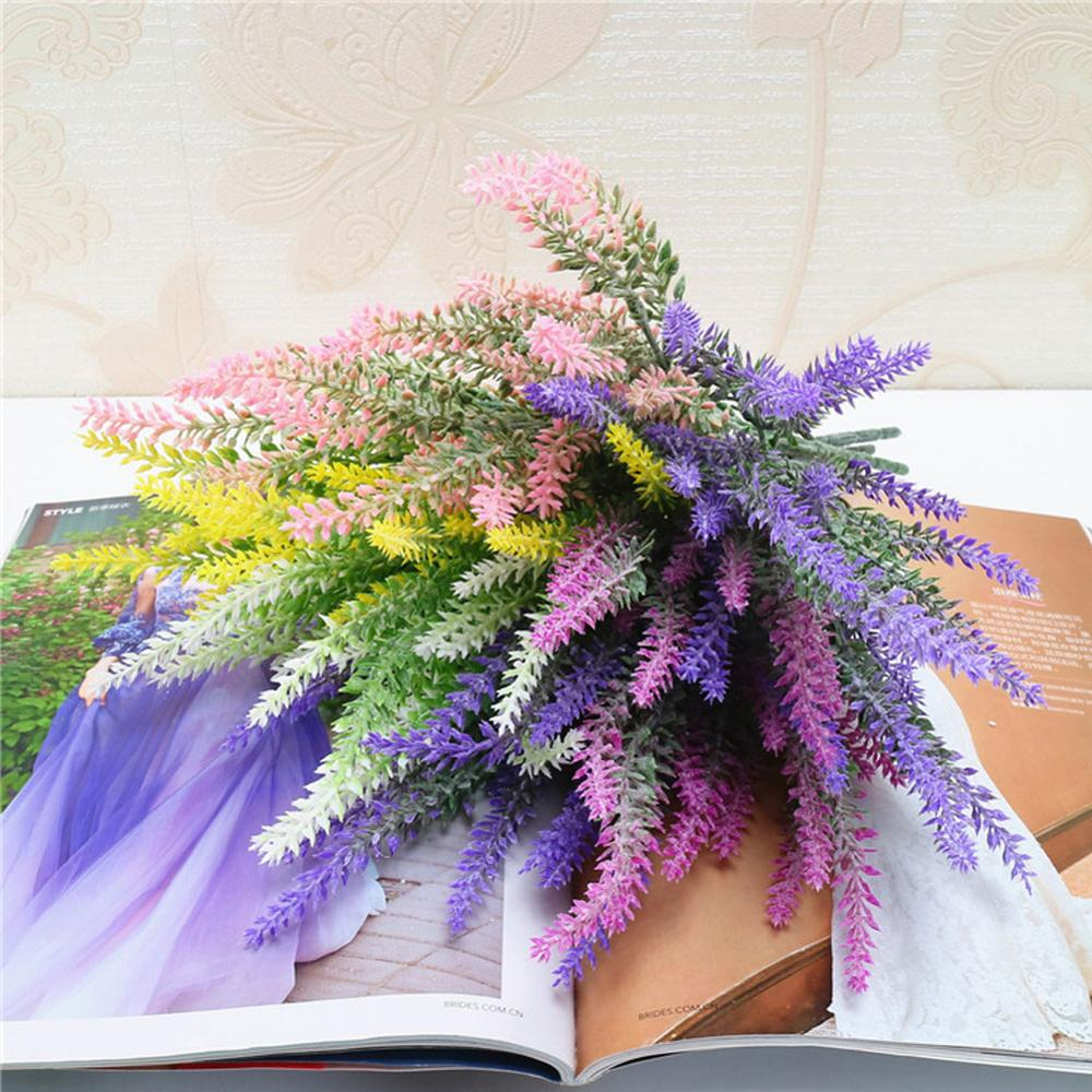 Mini Pe Lavender Artificial Flowers For Wedding Home Decoration Diy Craft Gift Bride Wreath Scrapbooking Fake Flower Xf30