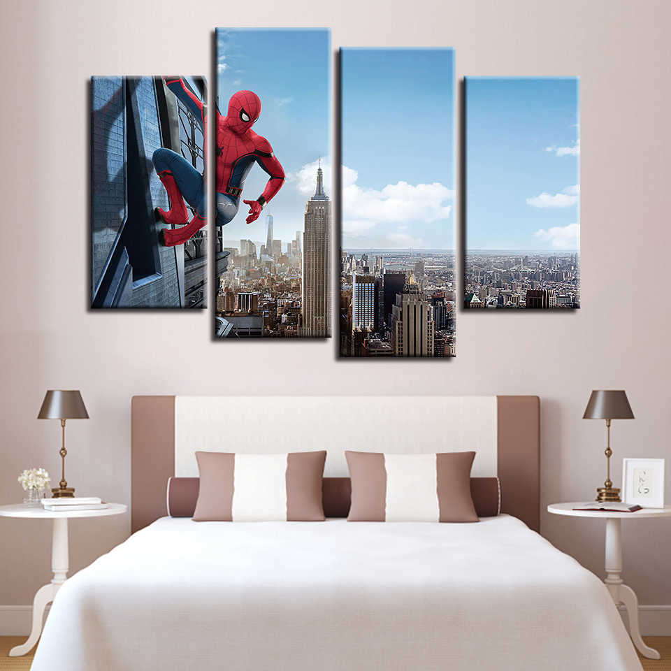 Canvas Paintings For Living Room Wall Art Framework Spider Man Homecoming Pictures HD Prints Modular Movie Posters Home Decor